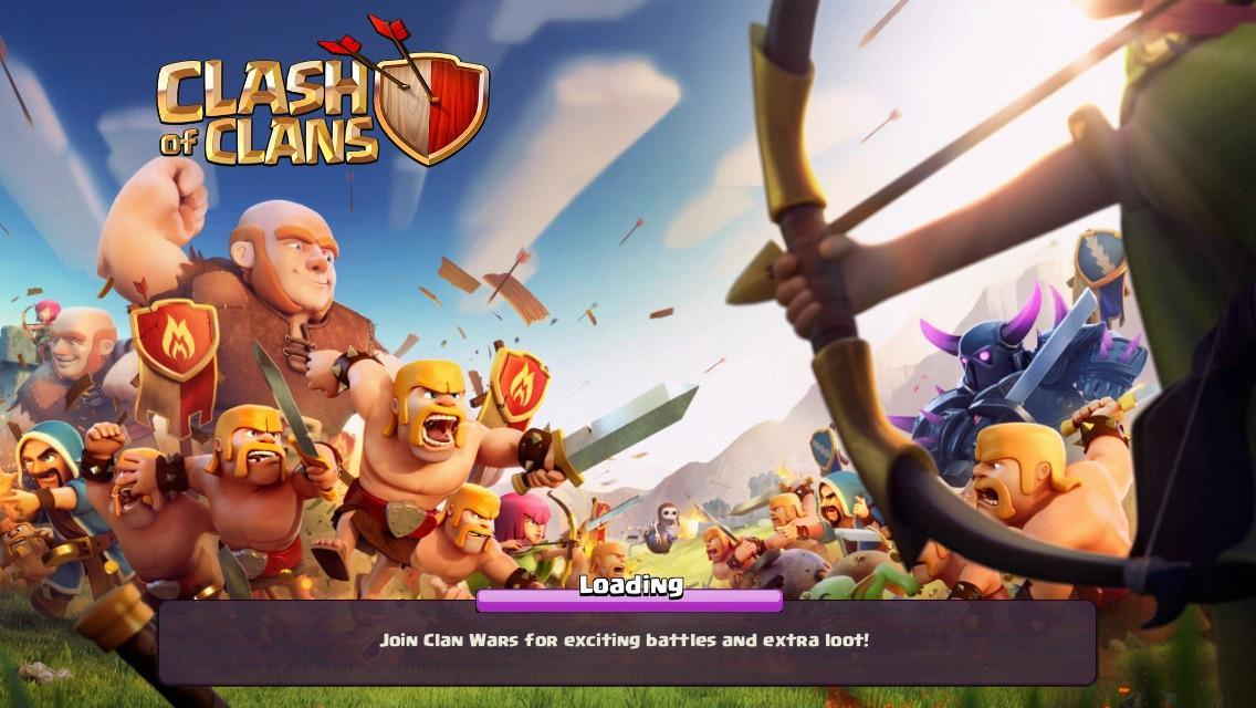 Clash of Clans page