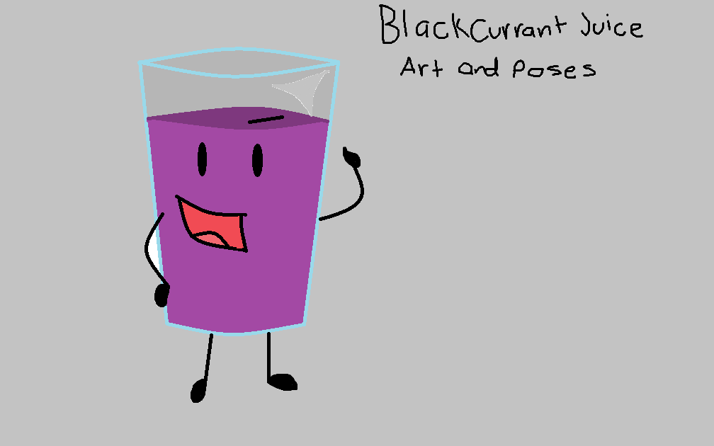 Blackcurrant Juice art and poses page