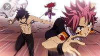 Erza, Natsu, and Gray are in a fight!