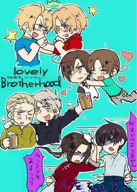 Best Hetalia Siblings? (If I missed any let me know!) :)