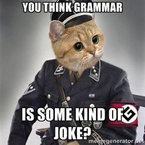 Are you a Grammar Nazi? (By me)