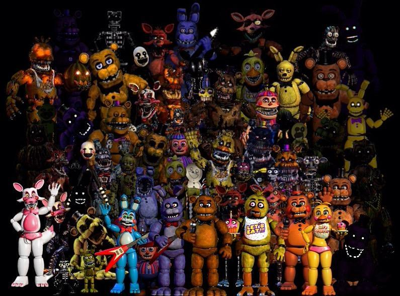 Which game do you like the most: FnaF 1 or FnaF 2 or FnaF 3 or FnaF 4 or Sister Location?