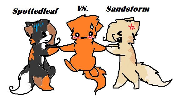 Do you think Firestar should be with Sandstorm or Spottedleaf?