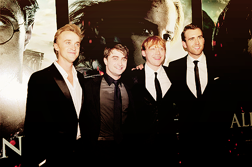 Harry potter boys Neville Londbottom ,Ronald Weasley,Harry Potter,Draco Malfoy