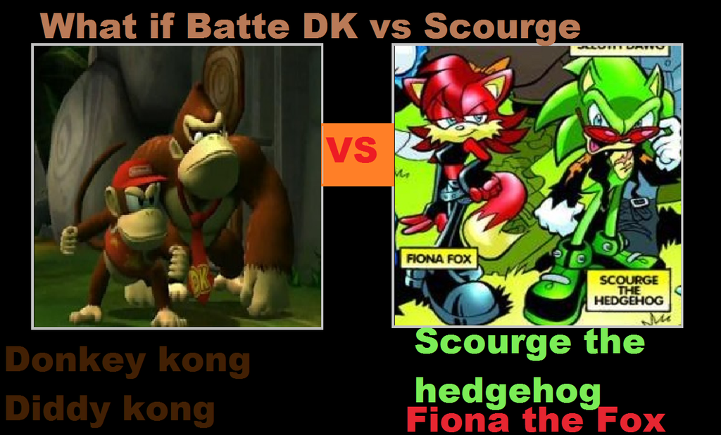 Team fight! Scourge and Fiona vs. Diddy Kong and donkey Kong who will win!