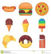Choose your favorite type of food from sweets and fast food