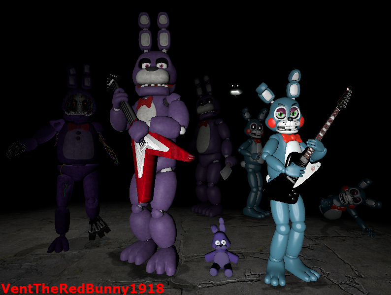 What your favorit type of Bonnie? (In the game)