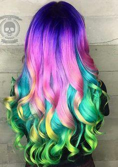 Which rainbow hairstyle do you like most?