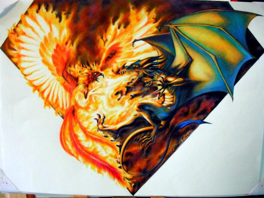 who would win,a Dragon or a Phoenix?