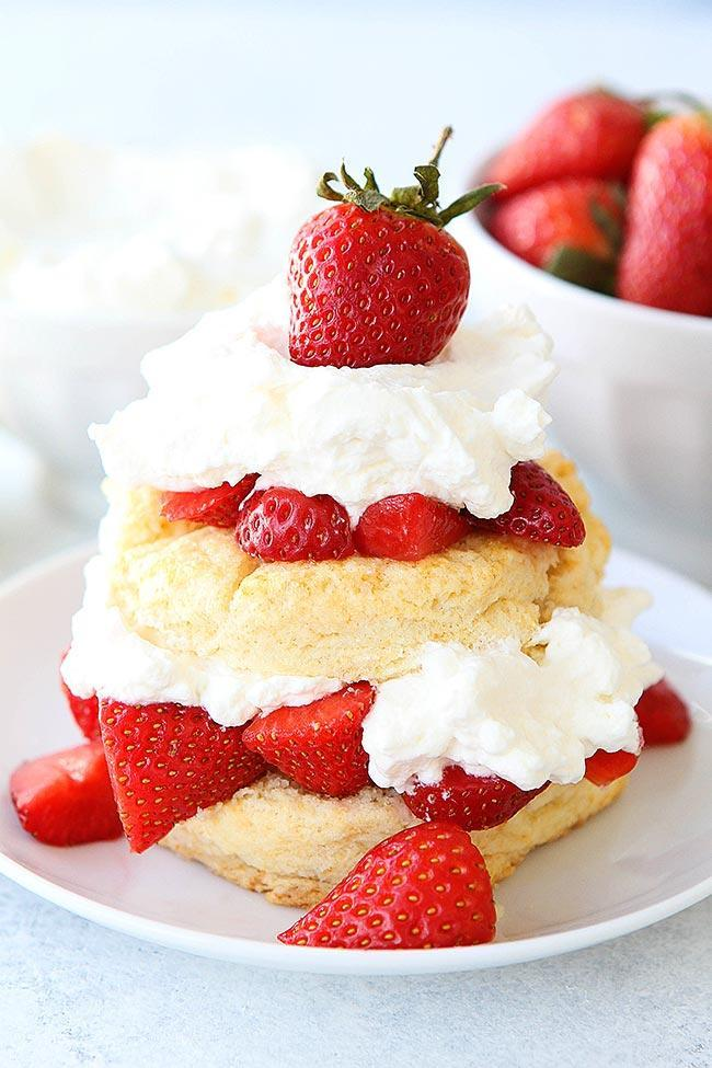 Strawberry shortcake or ice cream sandwiches