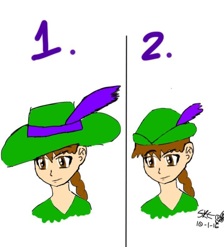 Which hat is better for this character?