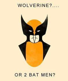 is it wolverine or two batman's?