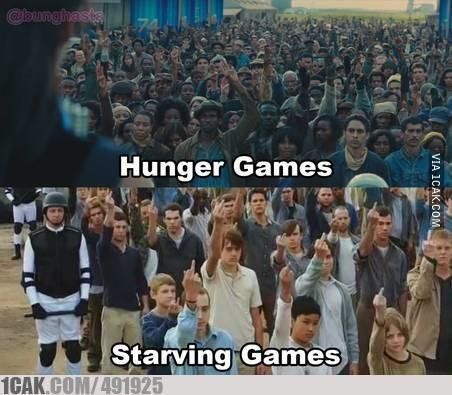 Hunger Games vs Starving Games