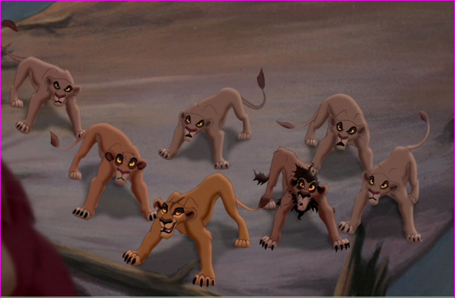 How do you think Simba choose which lions to exile?