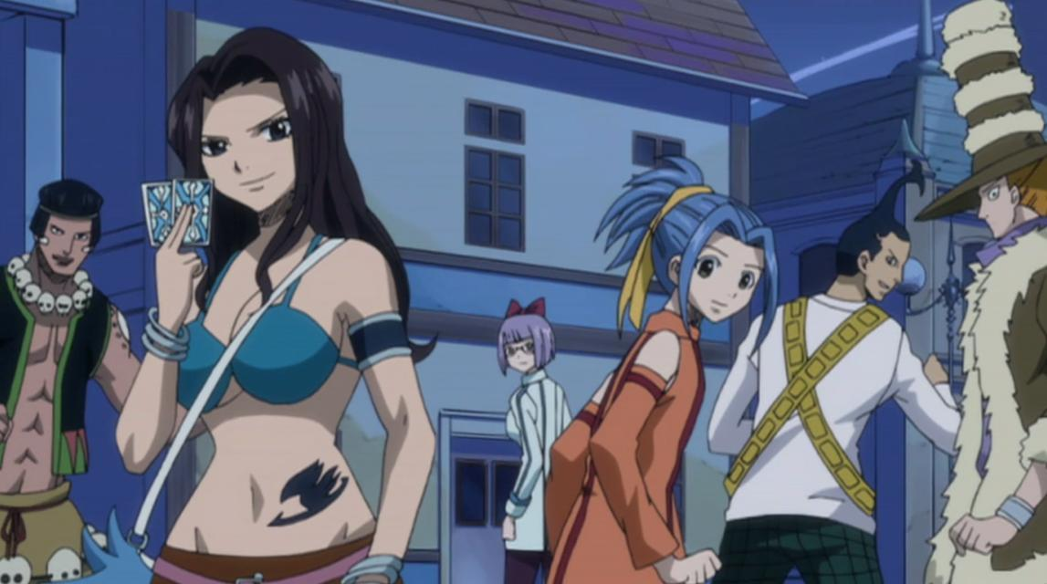 Fairy Tail: Levy vs Cana