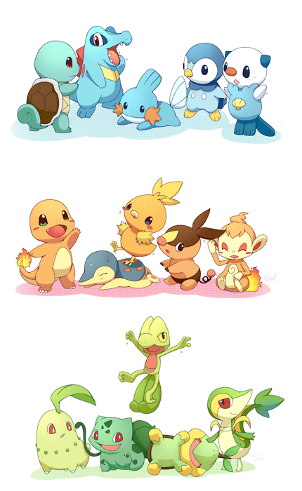 what starter pokemon do you like in the choice below? :D