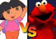 which is scarier? Dora or Elmo