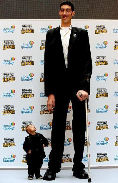 Would you rather be the tallest person in the world or be the smallest person in the world?