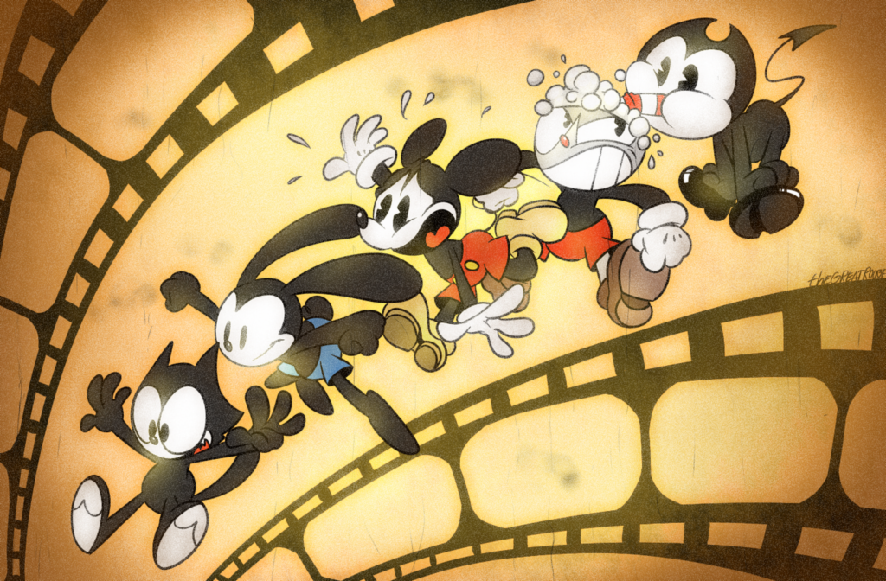Cuphead: dont deal with the devil, or Bendy and the ink machine.