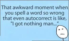 That awkward moment when....