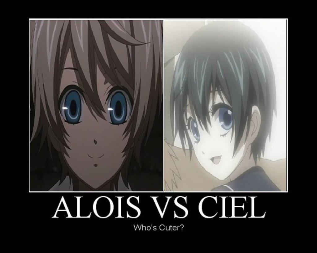 Which is cuter young Ciel or young Alois?
