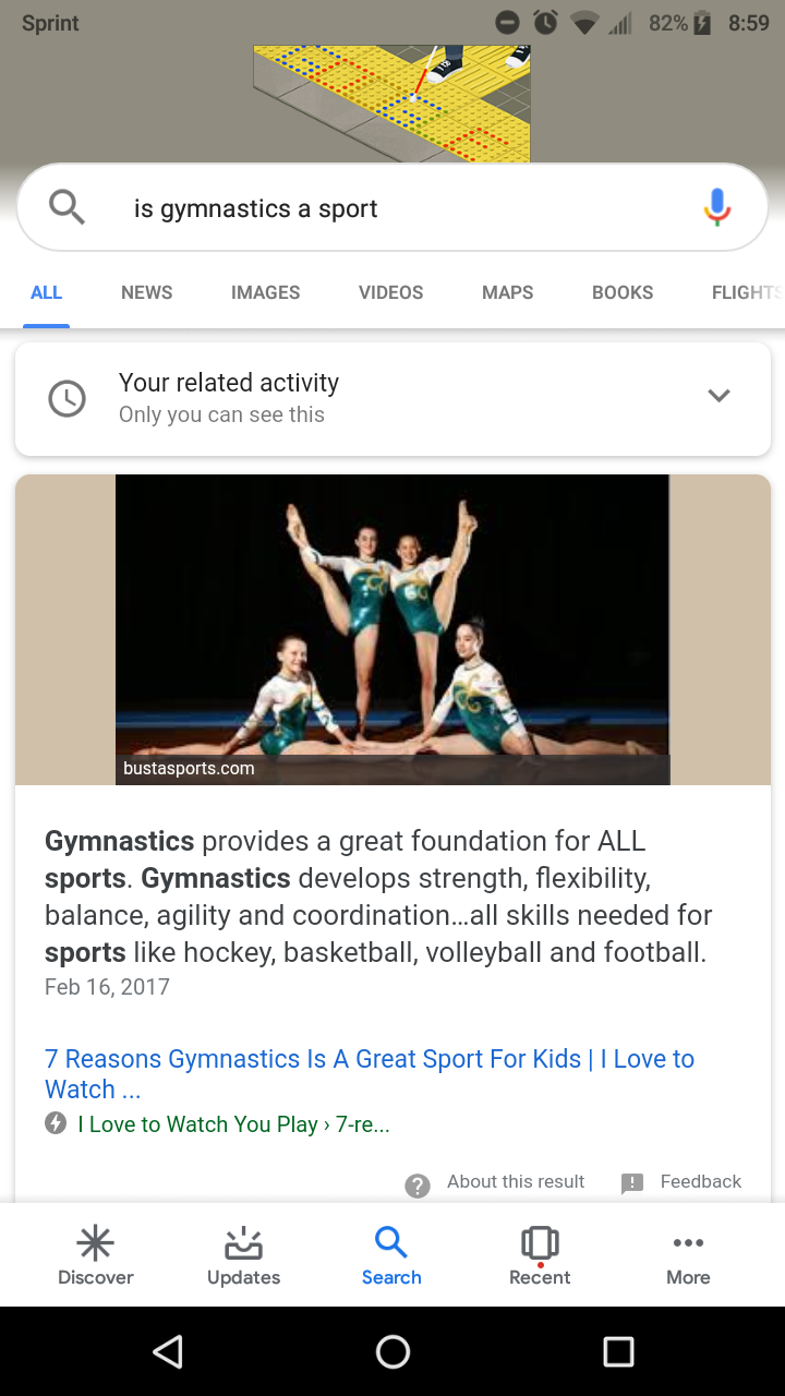 Do you think gymnastics is a sport?