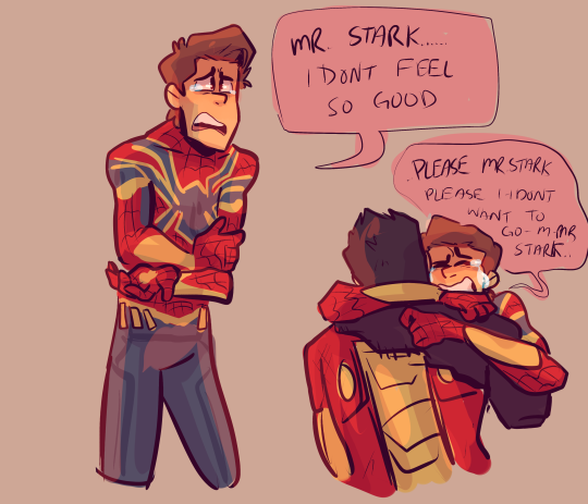 What kind of relationship do you think Tony Stark and Peter (Spider-Man) have? (Or is the cutest)