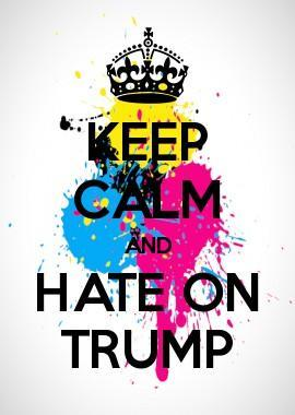 Keep calm and hate on Trump