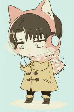 Levi In The Cold With Cat Headphone