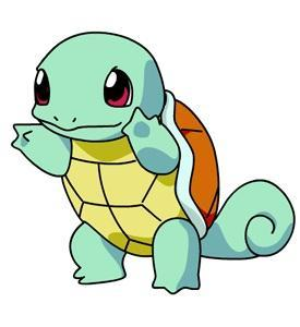 Squirtle, the water-type Pokemon!