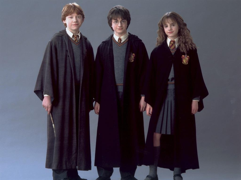 Harry potter, Ron weasley and Hermione granger