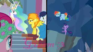 rainbow dash (good) vs spitfire (evil)