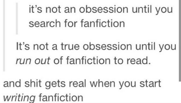 Writing a fanfic... Whether you want it or not...