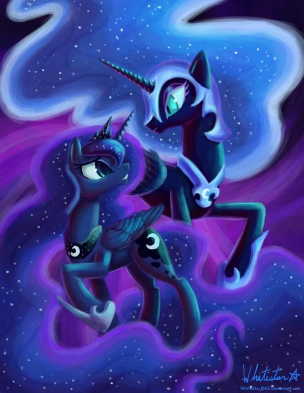 Nightmare moon & Luna