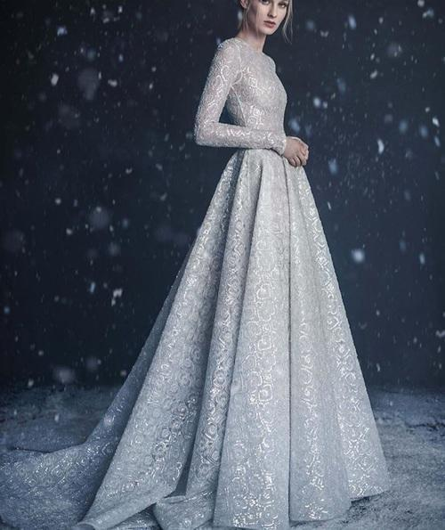 A light blue snow dress