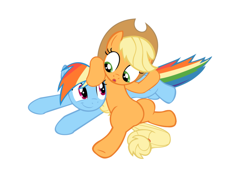 Applejack and Rainbow dash