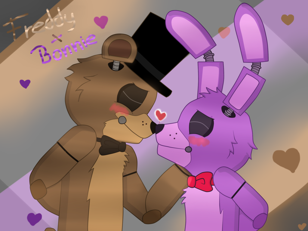 Bonnie x Freddy (i know theyre both male 0-0)