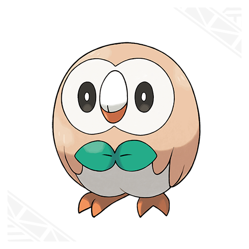 Rowlet(grass quill) Rowlet can attack without making a sound.