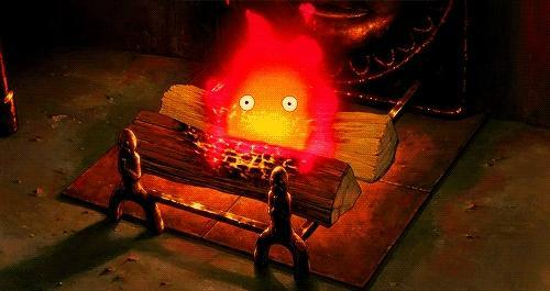 Calcifer from Howl's Moving Castle!