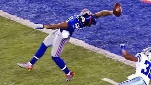 Odell Beckham Jr.s Famous 3 Fingered Snatch While Being Held