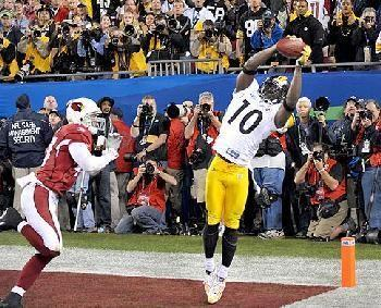 Santonio Holmes' sideline catch in Superbowl XLIII