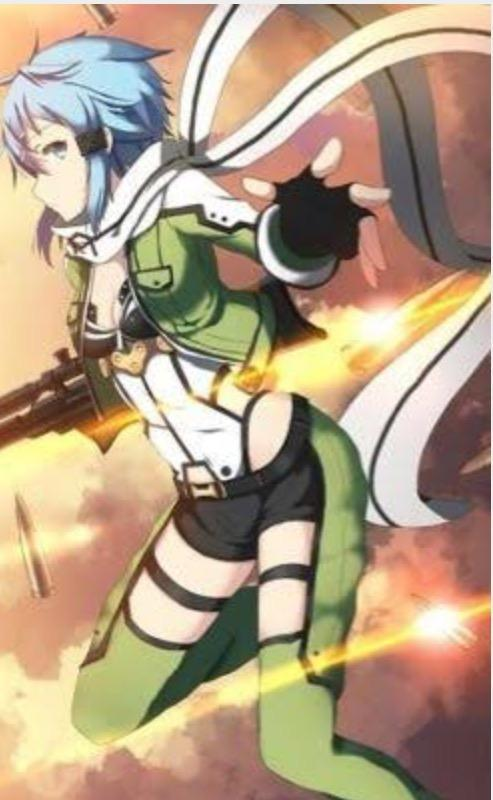 Sinon (me: yeah she is pretty cool,my favourite female character)
