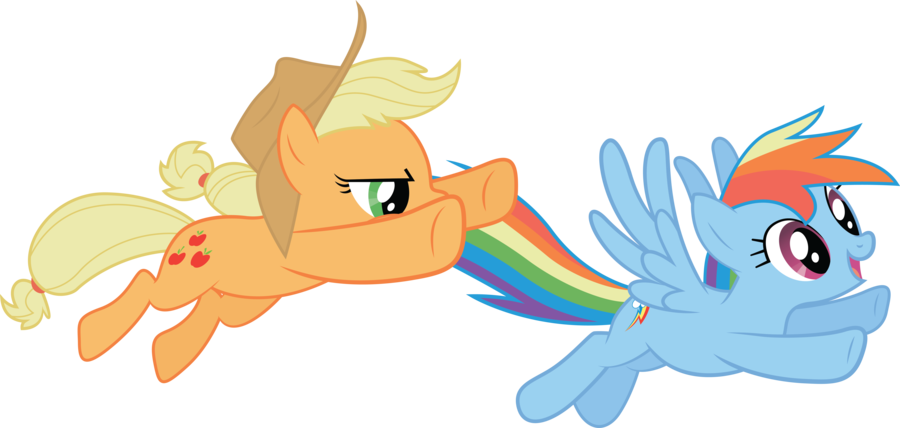rainbow dash (good) vs applejack (evil)