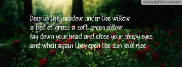 Deep in the Meadow, Hunger Games (Deep in the meadow under the willow a bed of grass a soft green pillow lay down your head)