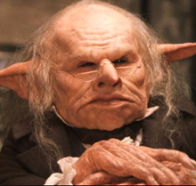 I like the shrill Gringotts Goblins or other goblins of the wizarding world. They are intelligent yet very greedy.