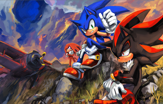 Sonic (Sonic, Shadow, Silver, Red, and Orange.)