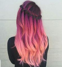 Pinkish hair