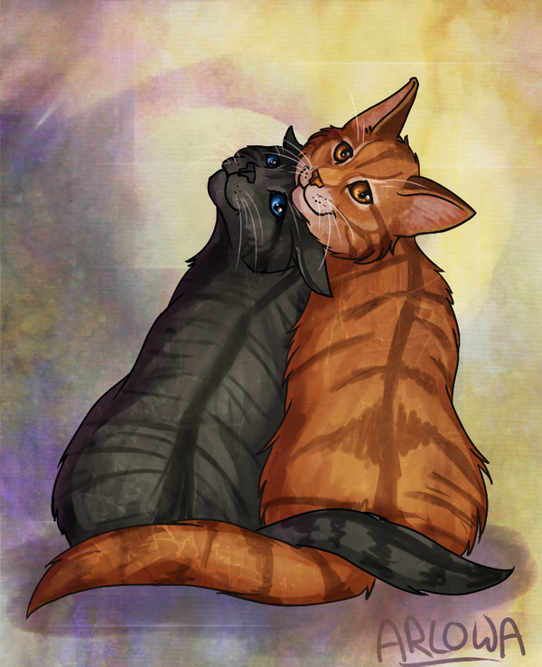 Cinderheart and Lionblaze