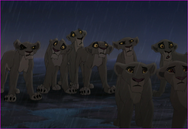 He picked Lions who Simba did not trust/Who were loyal to Scar/Or cubs of Outsiders/Other.
