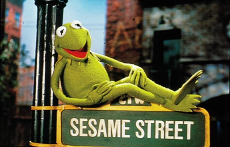 Kermit(yes he was on sesame street.Do your research.)